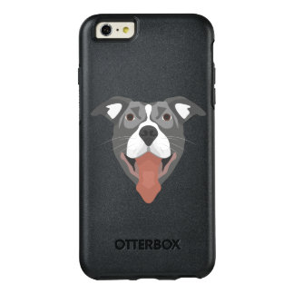 Illustration Dog Smiling Pitbull OtterBox iPhone 6/6s Plus Case