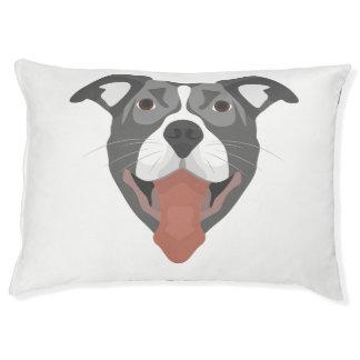Illustration Dog Smiling Pitbull Pet Bed