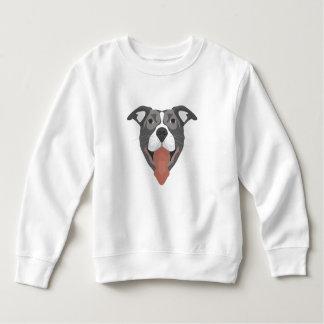 Illustration Dog Smiling Pitbull Sweatshirt