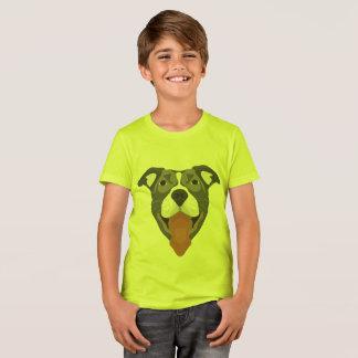 Illustration Dog Smiling Pitbull T-Shirt