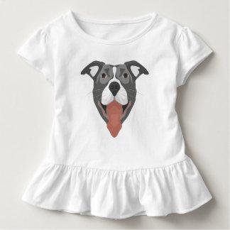 Illustration Dog Smiling Pitbull Toddler T-shirt