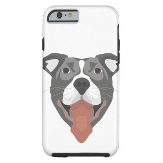 Illustration Dog Smiling Pitbull Tough iPhone 6 Case