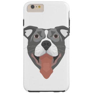 Illustration Dog Smiling Pitbull Tough iPhone 6 Plus Case