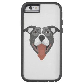 Illustration Dog Smiling Pitbull Tough Xtreme iPhone 6 Case