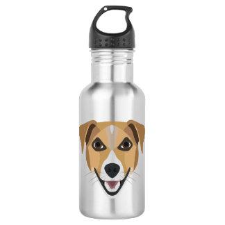 Illustration Dog Smiling Terrier 532 Ml Water Bottle