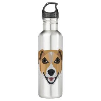 Illustration Dog Smiling Terrier 710 Ml Water Bottle