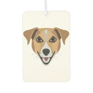 Illustration Dog Smiling Terrier Air Freshener