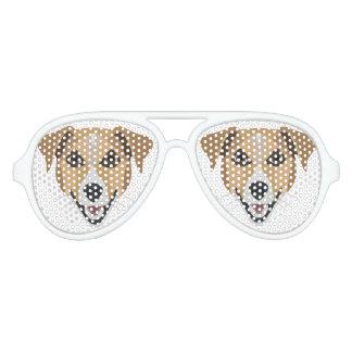 Illustration Dog Smiling Terrier Aviator Sunglasses