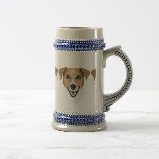 Illustration Dog Smiling Terrier Beer Stein