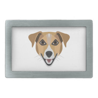 Illustration Dog Smiling Terrier Belt Buckle