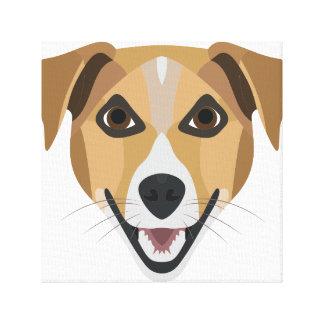 Illustration Dog Smiling Terrier Canvas Print