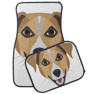Illustration Dog Smiling Terrier Car Mat