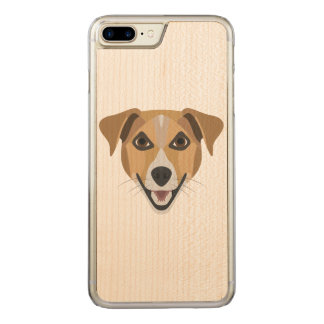 Illustration Dog Smiling Terrier Carved iPhone 8 Plus/7 Plus Case