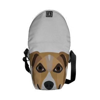 Illustration Dog Smiling Terrier Commuter Bag