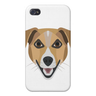Illustration Dog Smiling Terrier Covers For iPhone 4