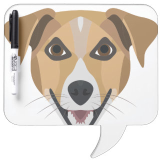 Illustration Dog Smiling Terrier Dry Erase Board
