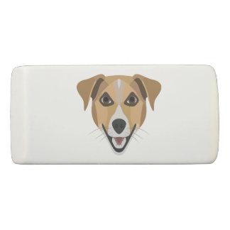 Illustration Dog Smiling Terrier Eraser