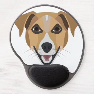 Illustration Dog Smiling Terrier Gel Mouse Pad