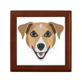 Illustration Dog Smiling Terrier Gift Box