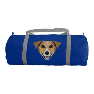 Illustration Dog Smiling Terrier Gym Bag