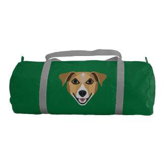 Illustration Dog Smiling Terrier Gym Bag