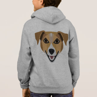 Illustration Dog Smiling Terrier Hoodie