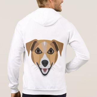Illustration Dog Smiling Terrier Hoodie