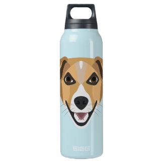 Illustration Dog Smiling Terrier Insulated Water Bottle