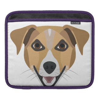 Illustration Dog Smiling Terrier iPad Sleeve