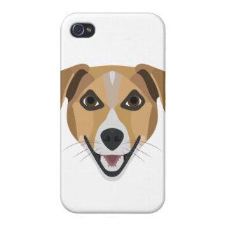 Illustration Dog Smiling Terrier iPhone 4/4S Case