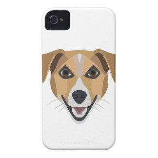 Illustration Dog Smiling Terrier iPhone 4 Case