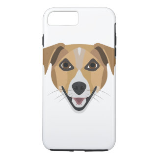 Illustration Dog Smiling Terrier iPhone 8 Plus/7 Plus Case