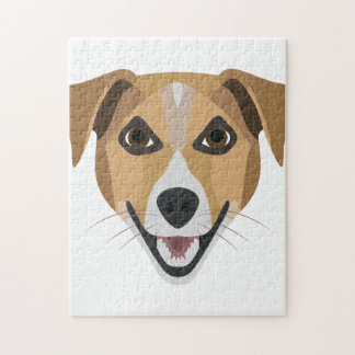 Illustration Dog Smiling Terrier Jigsaw Puzzle