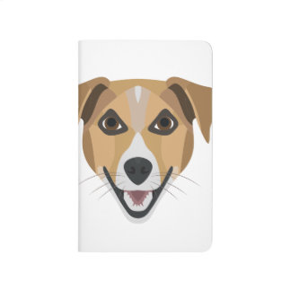 Illustration Dog Smiling Terrier Journal