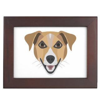 Illustration Dog Smiling Terrier Keepsake Box