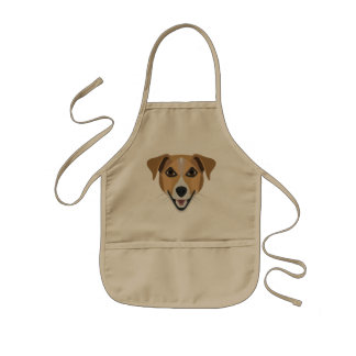 Illustration Dog Smiling Terrier Kids Apron
