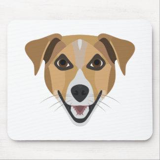 Illustration Dog Smiling Terrier Mouse Pad