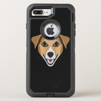 Illustration Dog Smiling Terrier OtterBox Defender iPhone 8 Plus/7 Plus Case