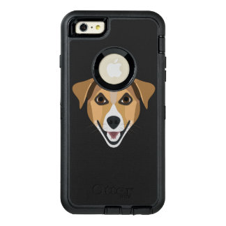 Illustration Dog Smiling Terrier OtterBox Defender iPhone Case