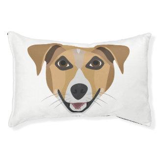 Illustration Dog Smiling Terrier Pet Bed