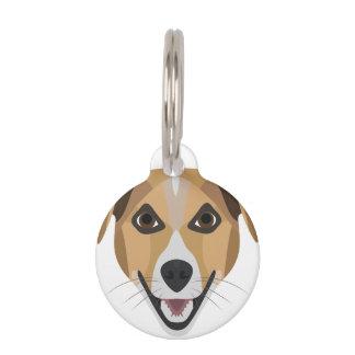Illustration Dog Smiling Terrier Pet ID Tag