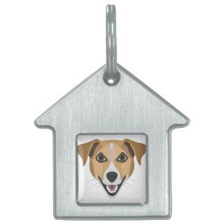 Illustration Dog Smiling Terrier Pet Name Tag