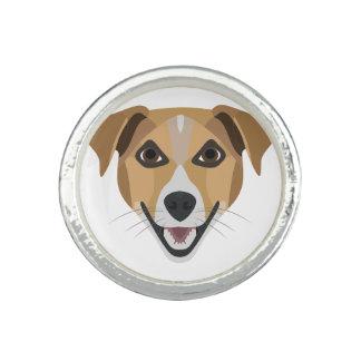 Illustration Dog Smiling Terrier Photo Rings