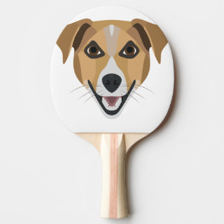 Illustration Dog Smiling Terrier Ping Pong Paddle