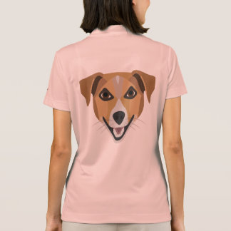 Illustration Dog Smiling Terrier Polo Shirt