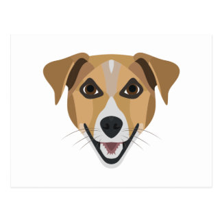 Illustration Dog Smiling Terrier Postcard