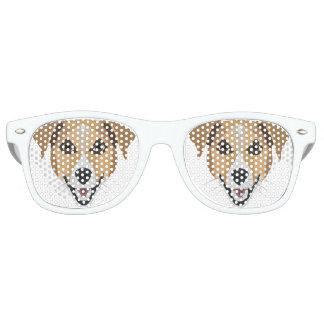 Illustration Dog Smiling Terrier Retro Sunglasses