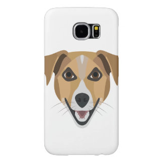 Illustration Dog Smiling Terrier Samsung Galaxy S6 Cases