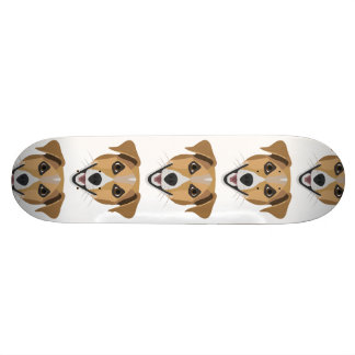 Illustration Dog Smiling Terrier Skateboard Deck