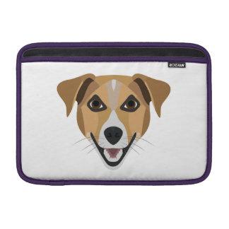Illustration Dog Smiling Terrier Sleeve For MacBook Air